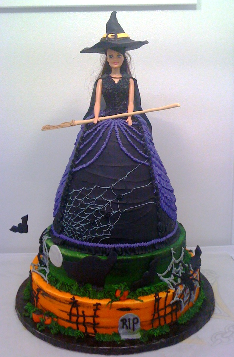 Barbie Witch Cake