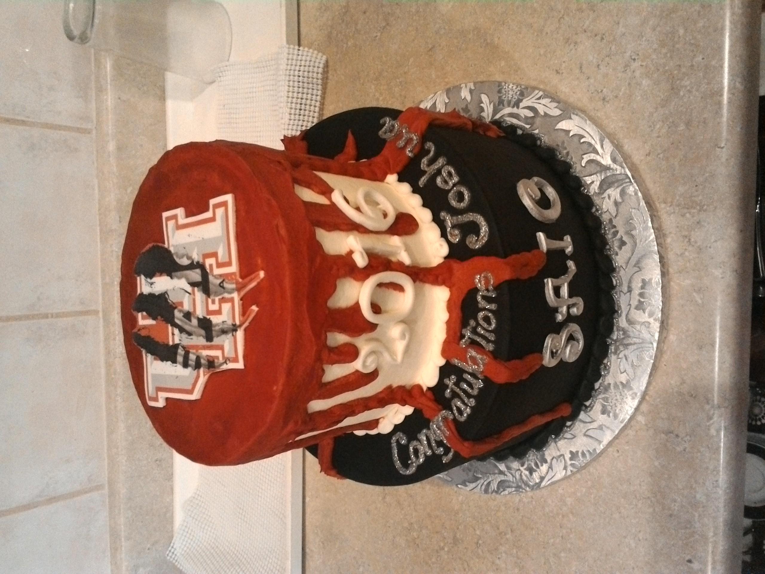 Zombie Grad Cake