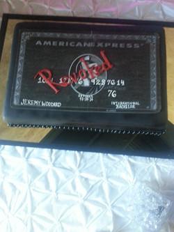 Revoked Amex card cake
