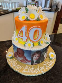 Photo Cake 2 tier