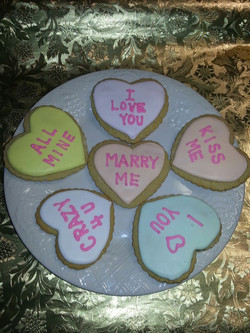 1Valentine's Day cookies