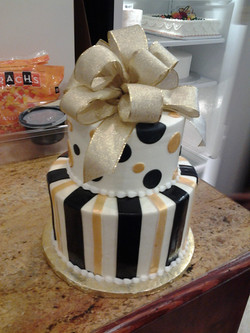 2 tier gold and black