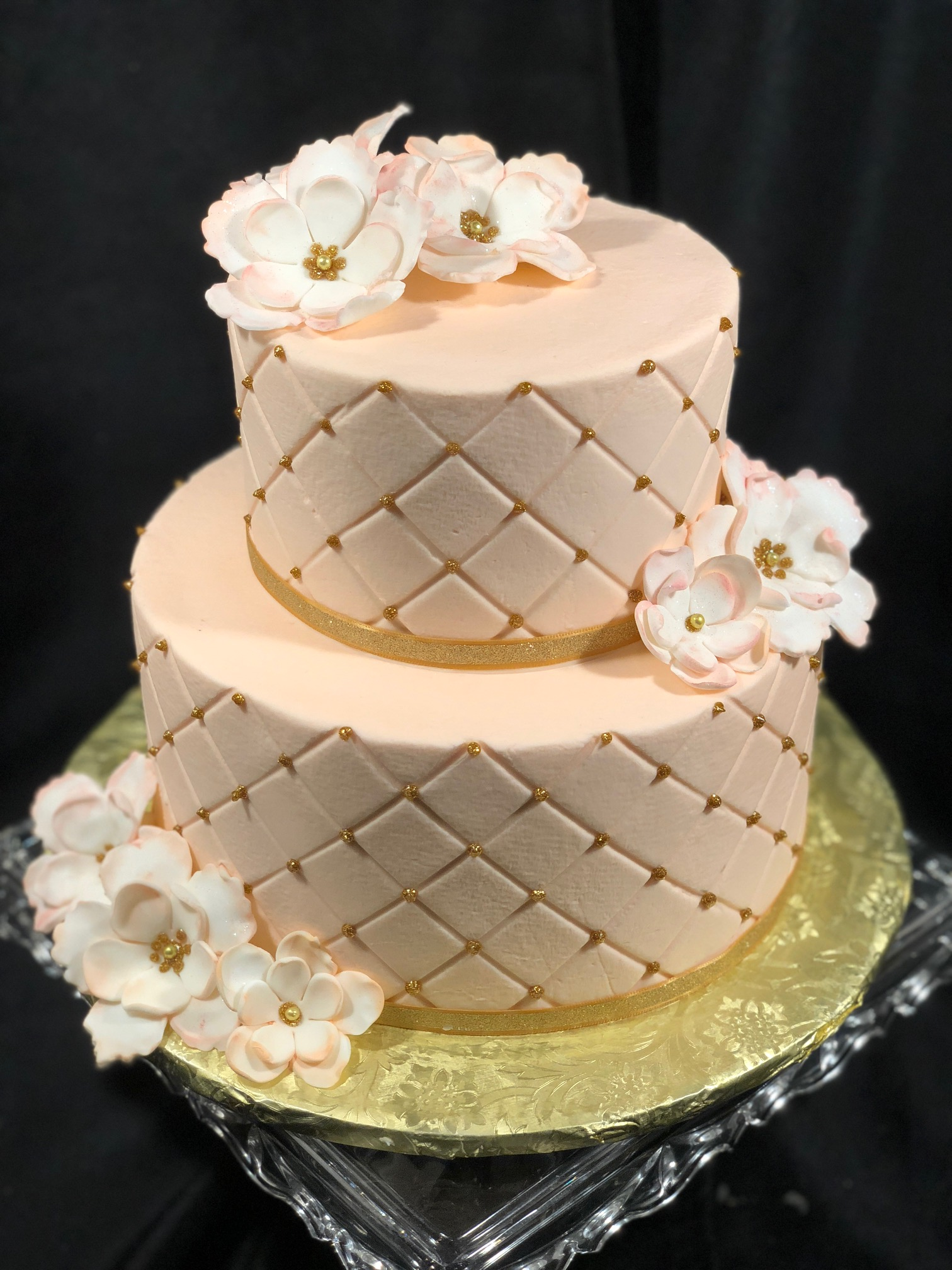 Soft Pink and Gold