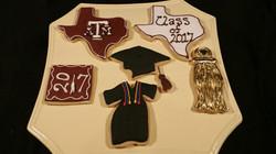 Grad Cookies Maroon & Gold