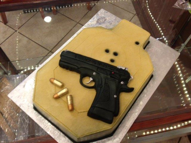 Target and hand gun