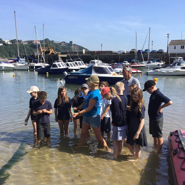 Art-Sci field trip Tenby Harbour