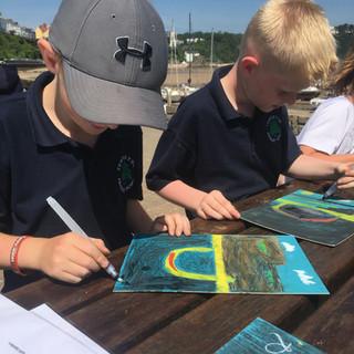 Art-science Field trip Tenby Harbour