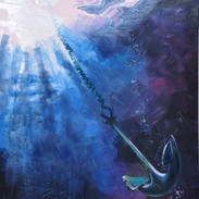 """""""Anchor in the Community"""" oil on board"""