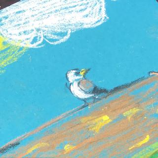 Herring Gull by star bird artist pupil Lucy