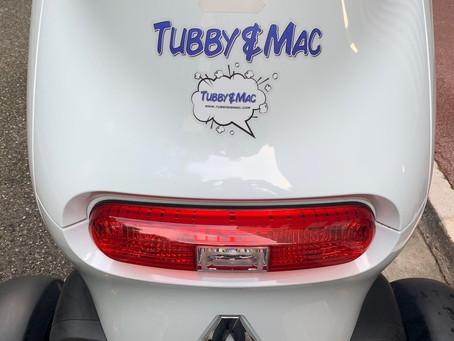 Tubby & Mac has got GREEN wheels! Look out for us flying around Monaco! #tubbyandmac #tubbysteam