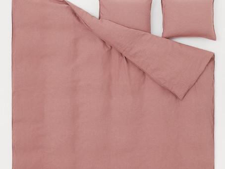 Eco-friendly linen bedding