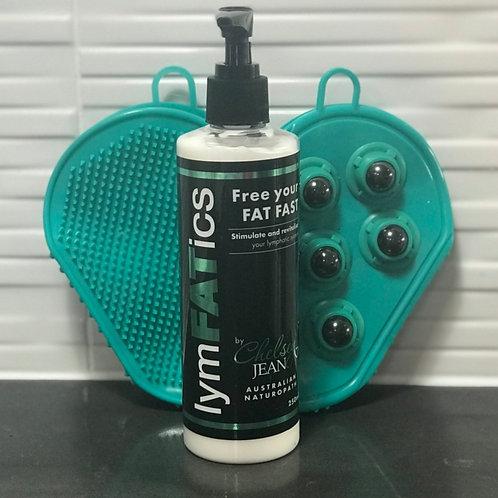 LymFATics Magnetic Massage Gloves & Cream Kit