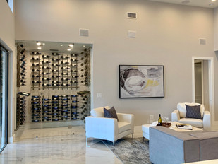 Family Room with Wine Cooler
