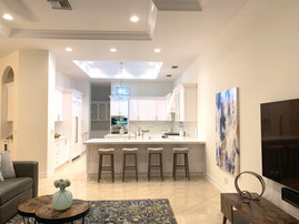 Family Room - View into Gourmet Kitchen