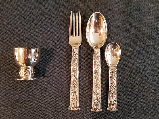 Børnebestik i sølv, Evald Nielsen