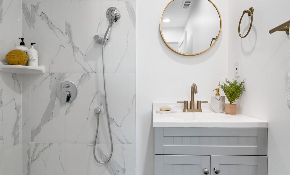 Staged Modern Bathroom