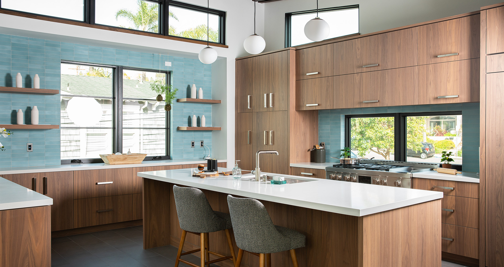 modern kitchen staging