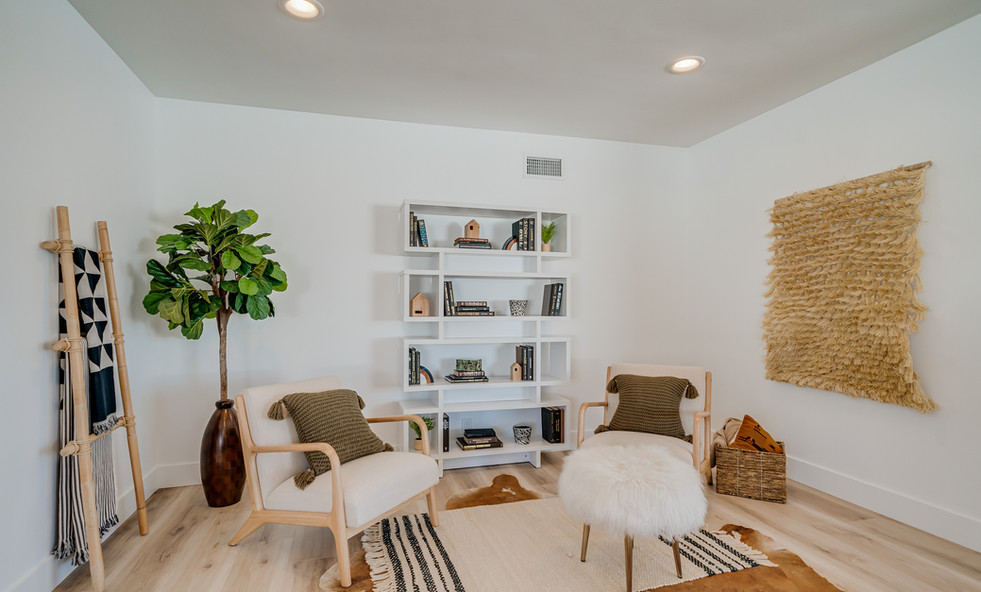 Office or conversational area home staging
