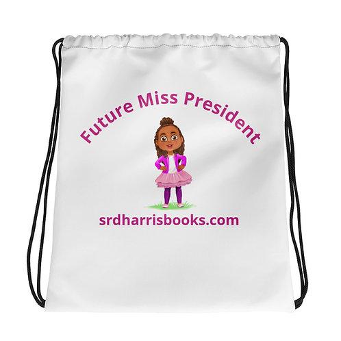 Future Miss President Drawstring bag