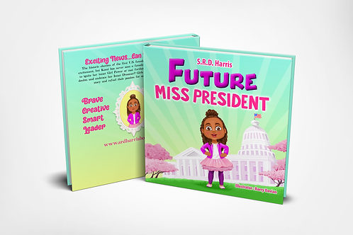 """ICE CREAM ROLLERY In-Person Purchase-""""Future Miss President"""" Book"""