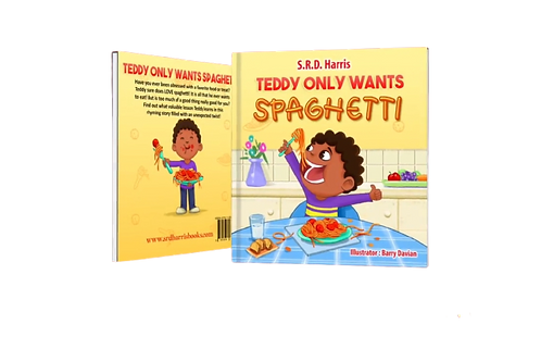 """Paperback PRE-SALE """"Teddy Only Wants Spaghetti"""""""