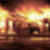 sur le feu