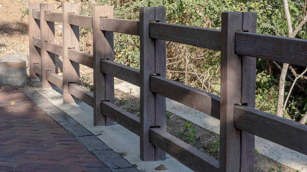 RC欄杆-木紋面(三橫桿)