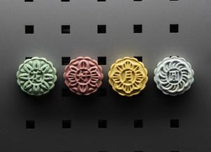 作品//中式馬卡龍 – 水泥月餅磁鐵套組