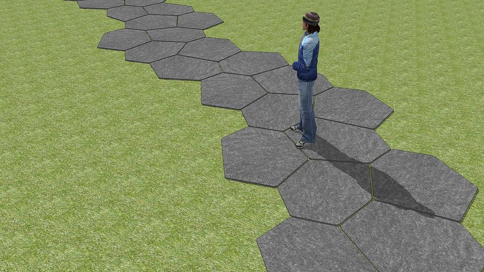 大板塊-柱狀紋理