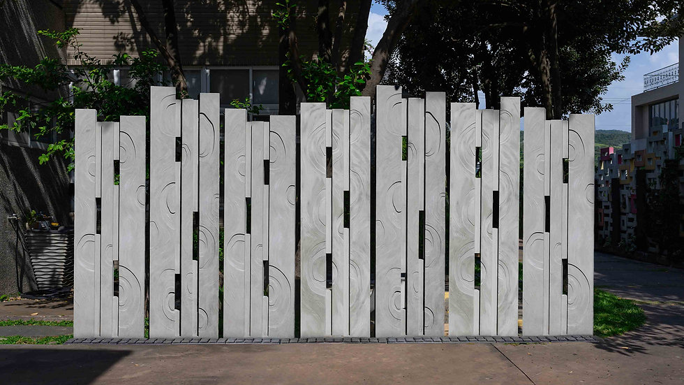 鏤空造型牆-條碼型-水之形