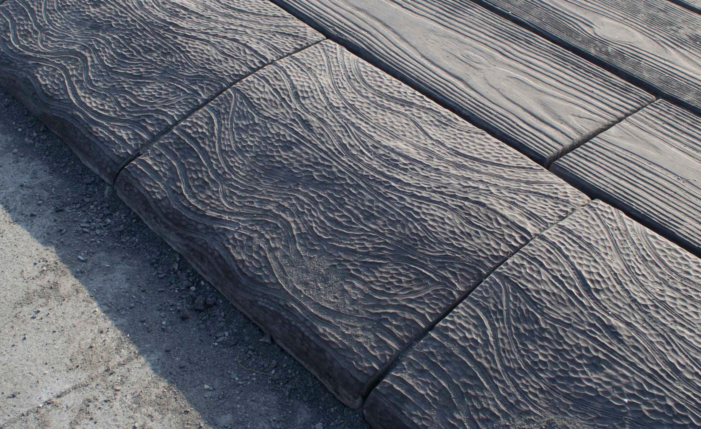 斜坡緣石-流動紋理 [L39*W30*H8cm]