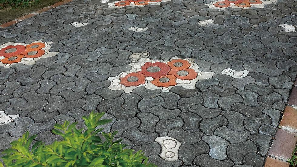 組合磚-小花朵朵