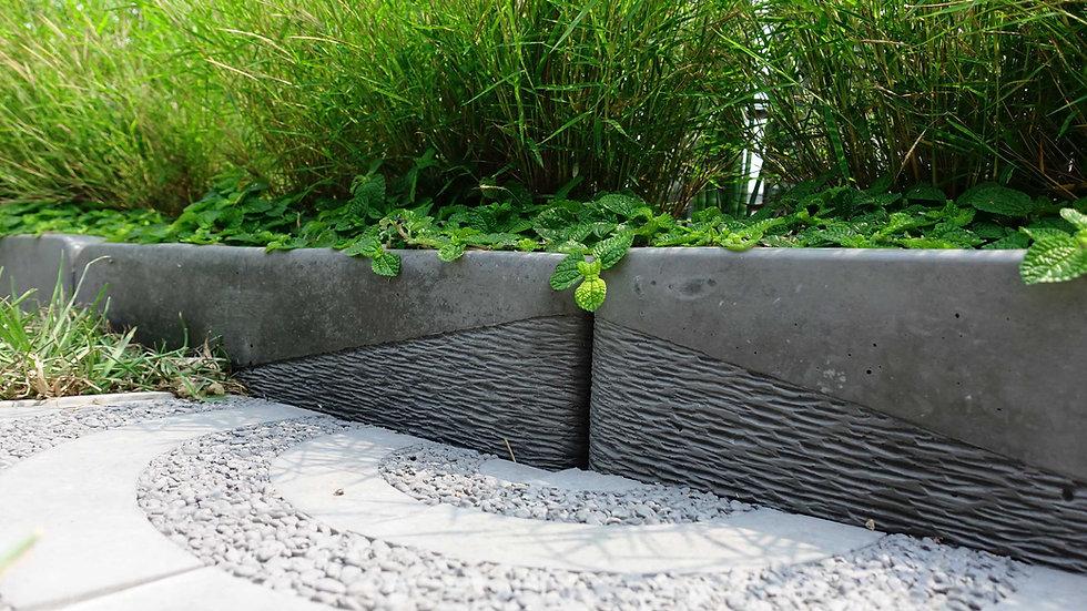 長型花盆-斜鑿面