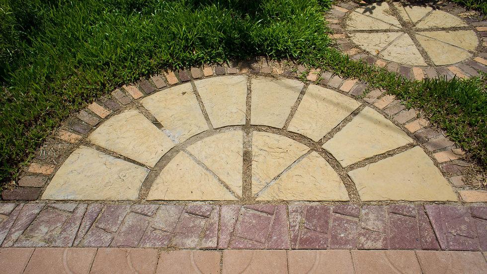 砂岩石板組合圓