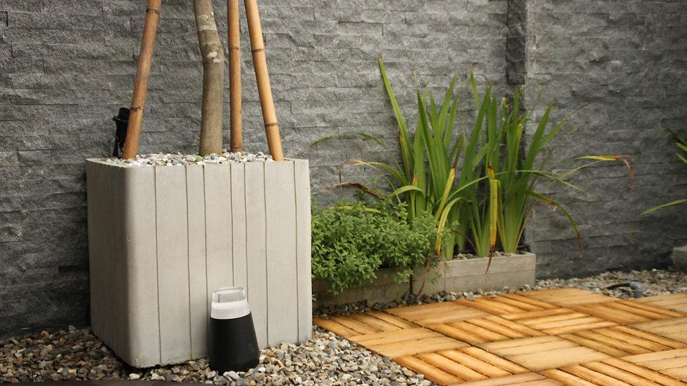 方形花盆-清水木紋