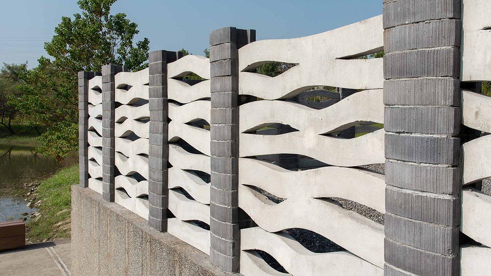 鏤空造型牆-波紋型