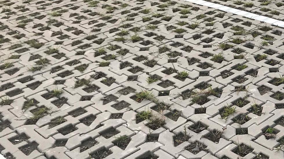 T10高壓植草磚-拼圖型
