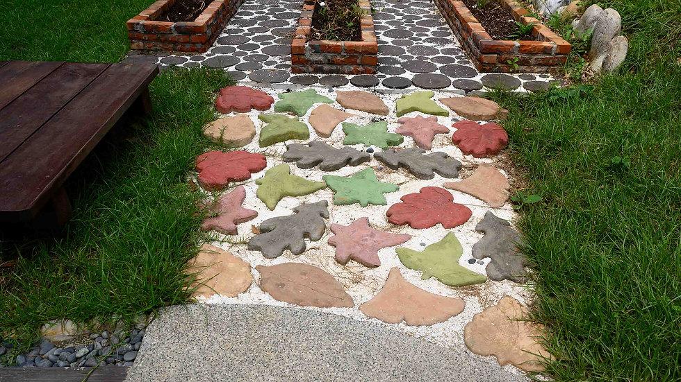 岩面葉型磚