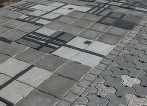 手工磚 + 高壓磚   水泥鋪面首選