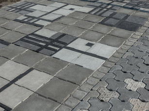 手工磚 + 高壓磚 | 水泥鋪面首選