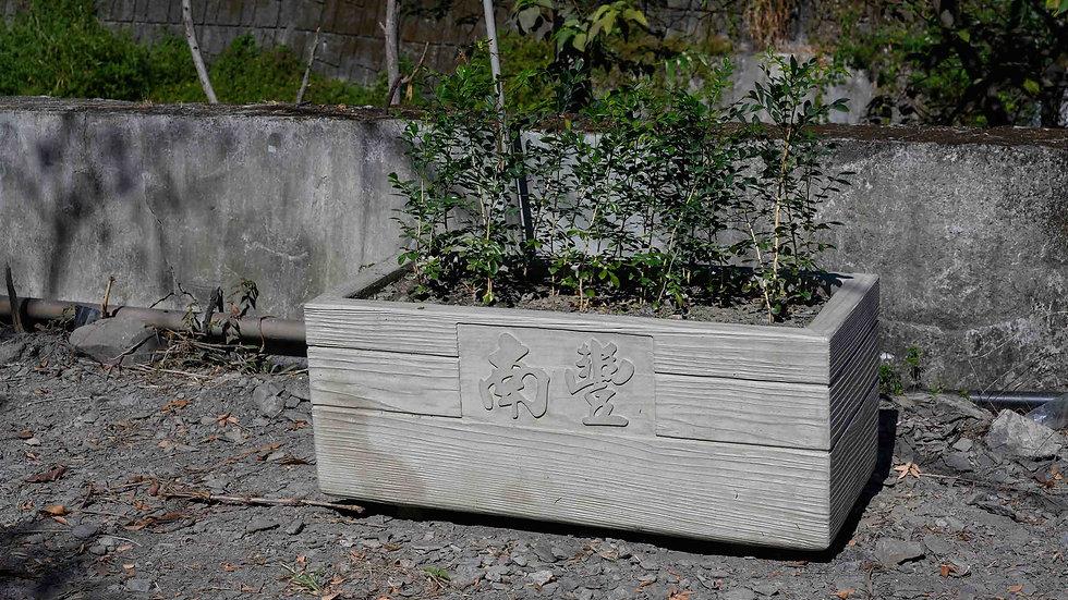 長型花盆-木紋面