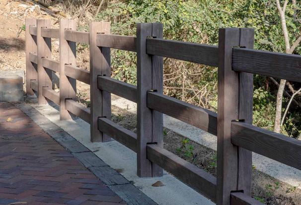 木紋面欄杆-三橫桿
