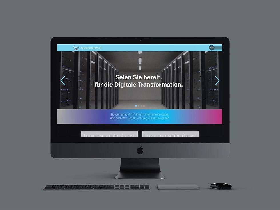 Bild einer Homepage