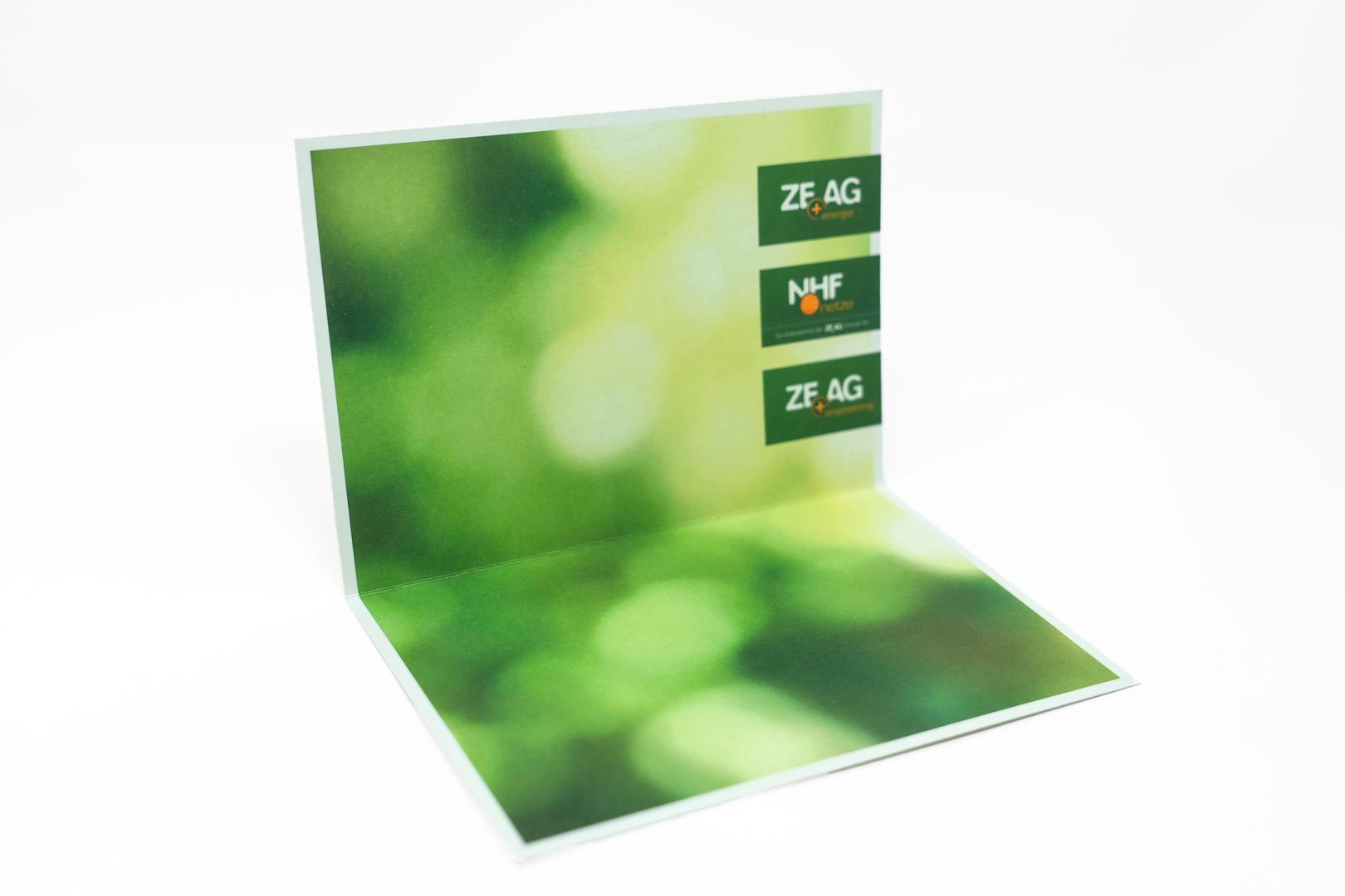 ZEAG Energie Weihnachtskarte Innen