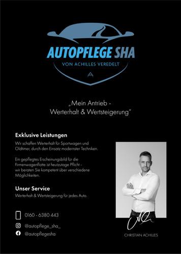 Werbeanzeige Autopflege SHA