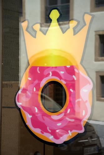 Donut beidseitig bedruckt mit Glanzlaminat