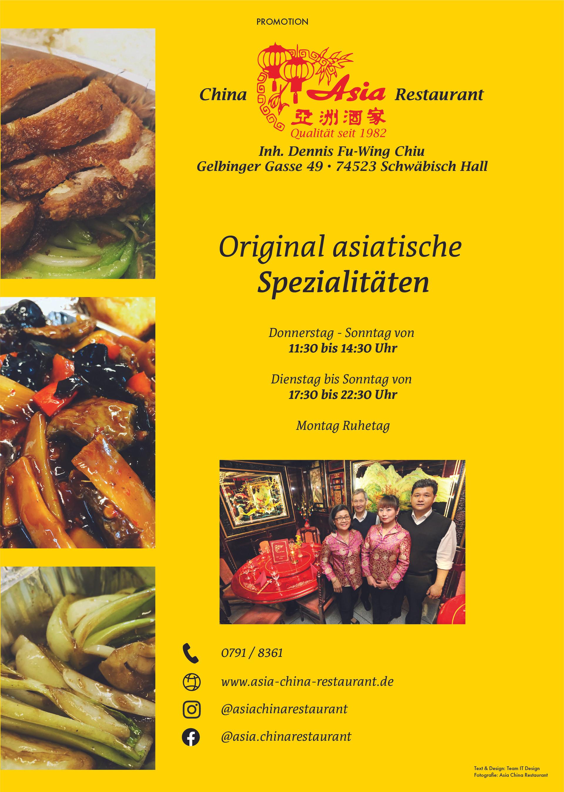 Asia China Restaurant Promotion