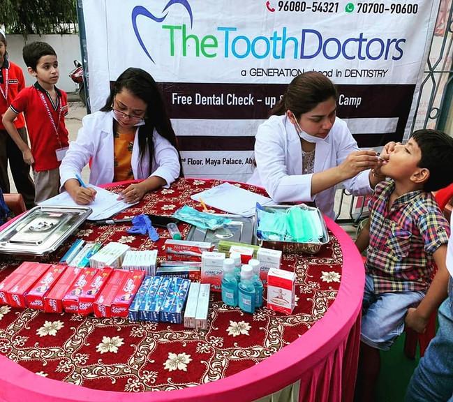 Free Dental Checkup Camp for kids.