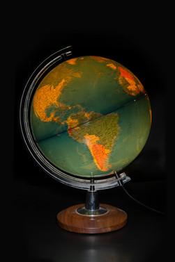 Illuminated globe, c. 1990.