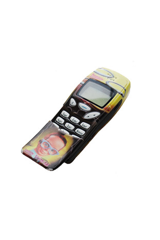 1990's Nokia 3210 with Thunderbird's Brains fascia. The Nokia 3210 was one of the most popular mobile phones in history.